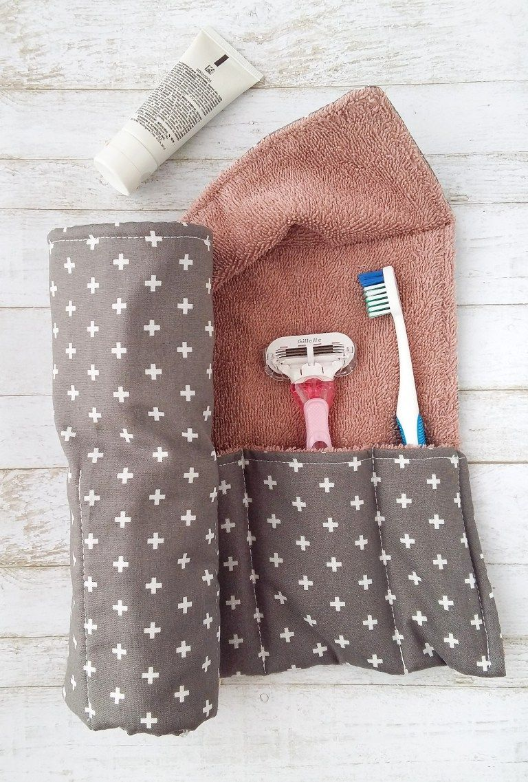 DIY Toothbrush Travel Wrap | The Yellow Birdhouse