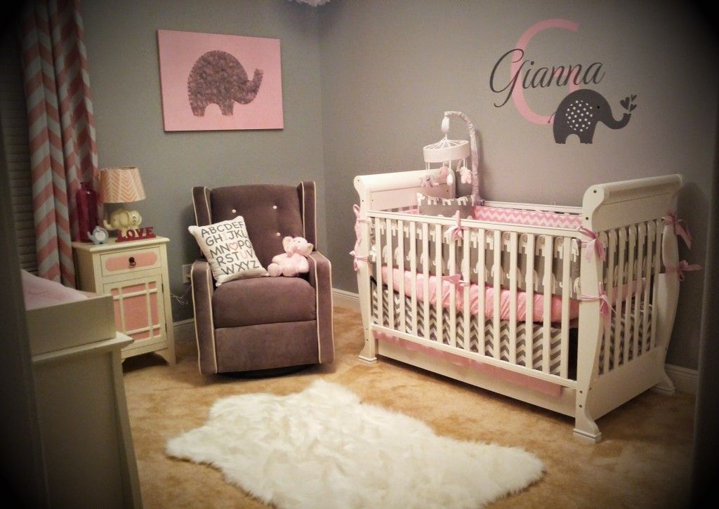 Project Nursery Pink And Gray Elephant