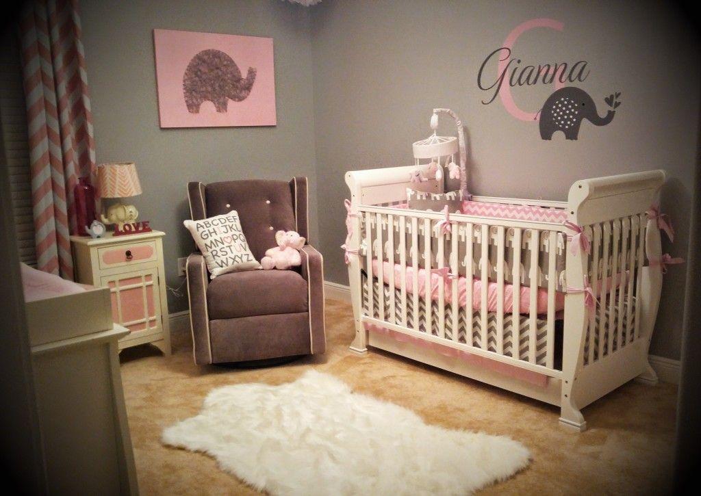 gianna 39 s pink and gray elephant nursery reveal baby j elephant nursery decor baby girl. Black Bedroom Furniture Sets. Home Design Ideas