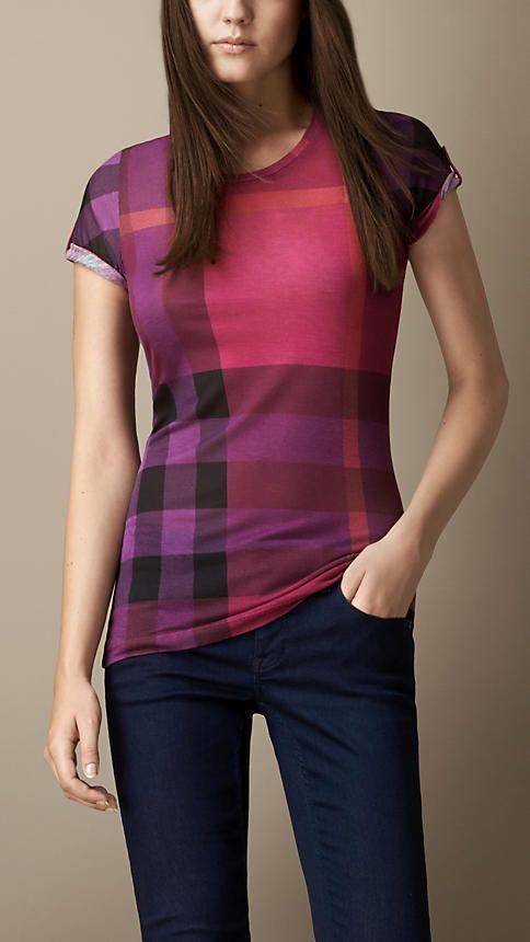 a13501fbc7a2 75 Burberry Printed Check T-Shirt on shopstyle.co.uk | SB | Plaid ...