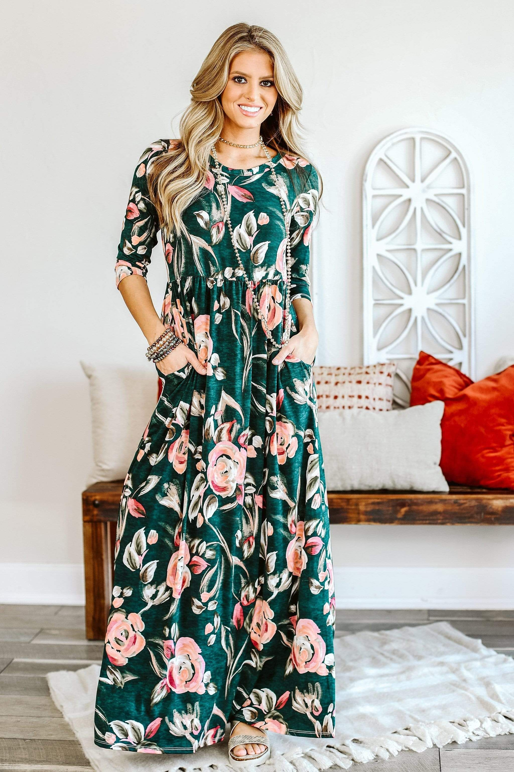 Fixated On Beauty Maxi Stylish 3 4 Sleeve Maxi In 2021 Best Maxi Dresses Pretty Maxi Dress Pretty Dresses Casual [ 3073 x 2048 Pixel ]