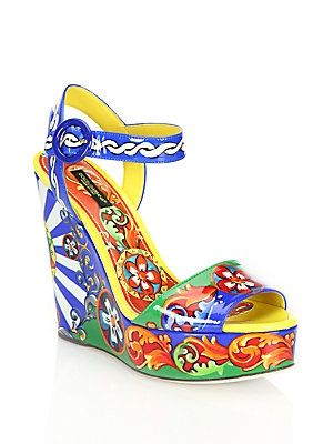 footaction sale online discount largest supplier Dolce & Gabbana Sicily Patent Leather Wedges pictures cheap price ribt2C