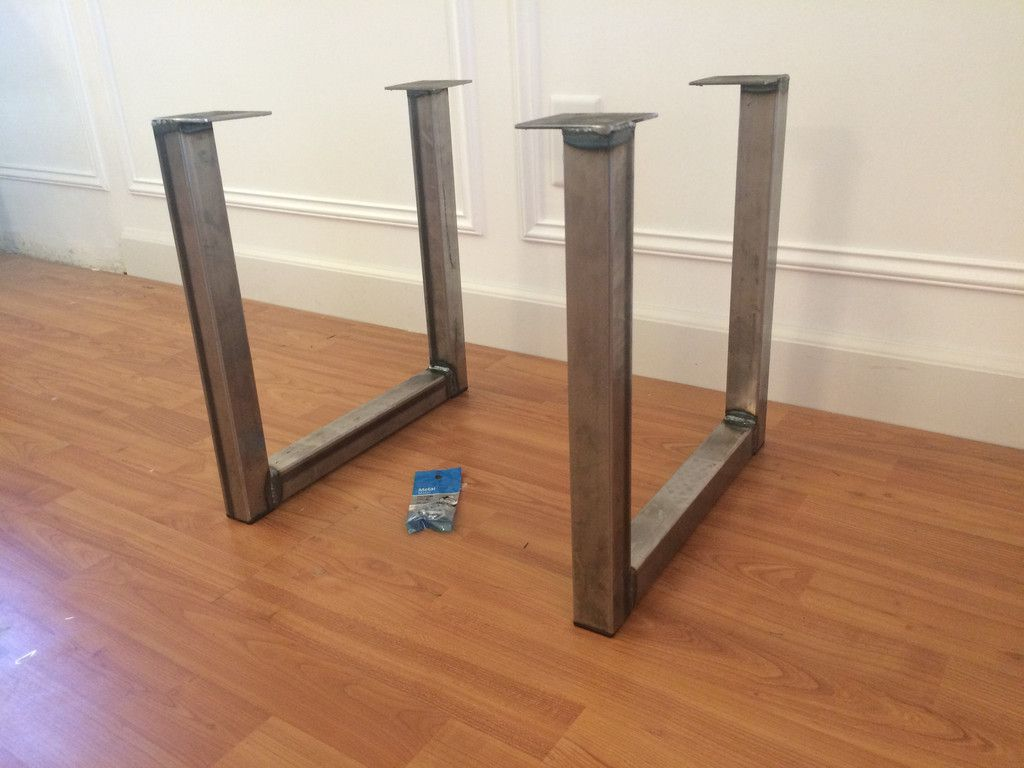 Steel Table Legs U Shape Metal Table Legs U Style Industrial Etsy In 2020 Steel Table Legs Steel Table Dining Table Legs