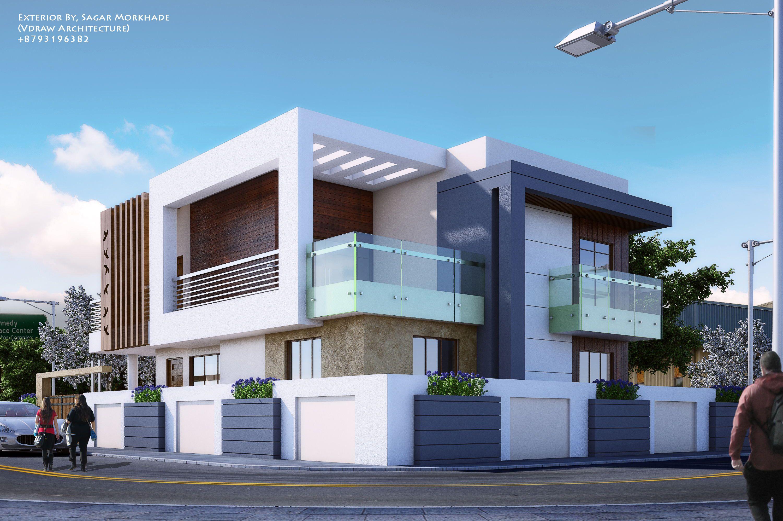 Exterior By Sagar Morkhade Vdraw Architecture 91