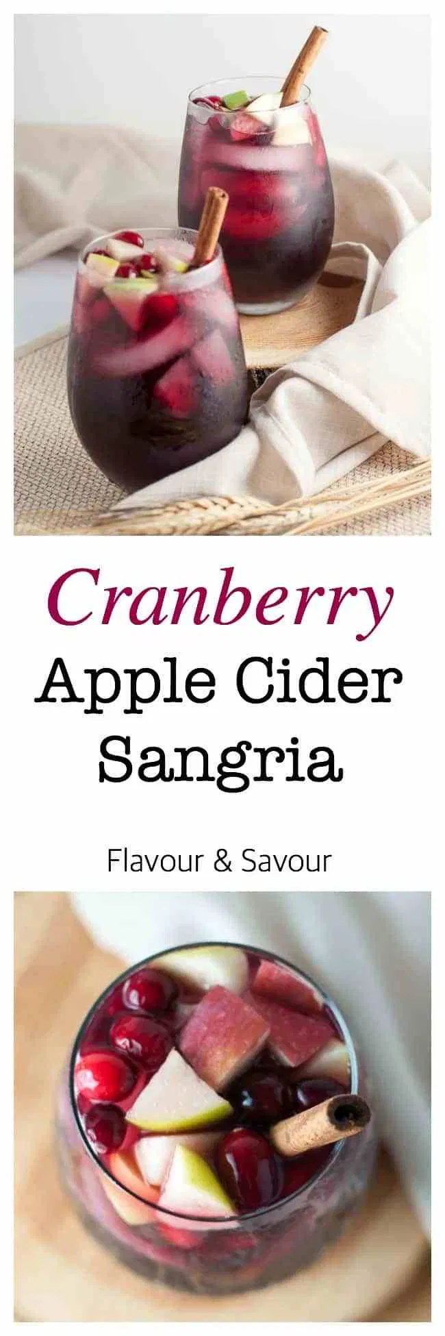 Cranberry Apple Cider Sangria #boissonsfraîches