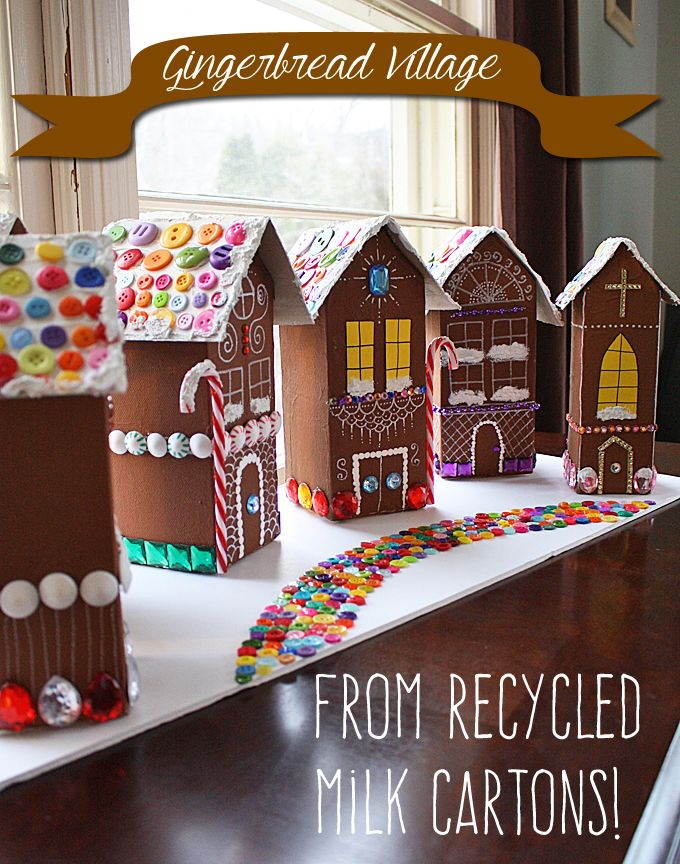Recycled Village Of Gingerbread Houses By Amanda Formaro Of
