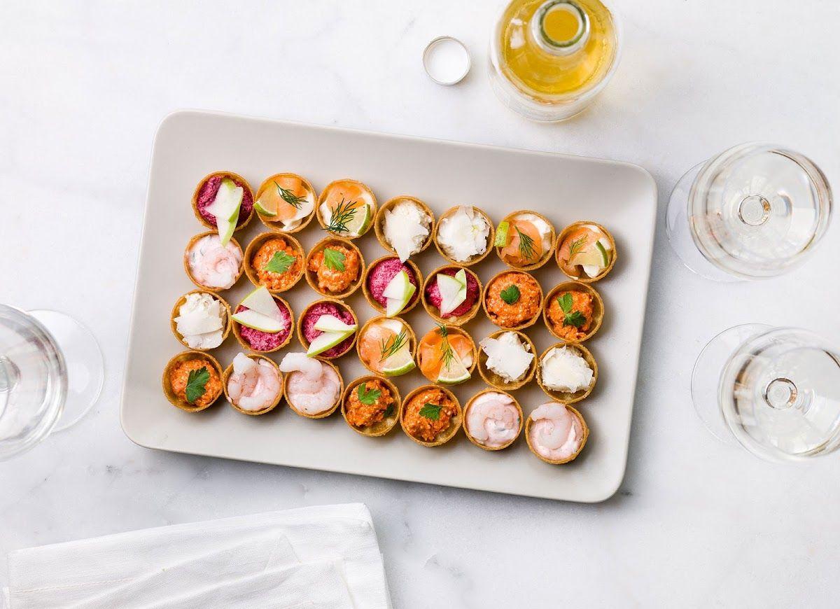 mini croustades aux crevettes l 39 artichaut aux poivrons au saumon au fromage ou la. Black Bedroom Furniture Sets. Home Design Ideas