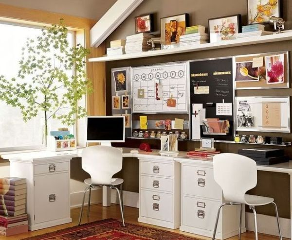 30 shared home office ideas that are functional and beautiful | home office space, home office