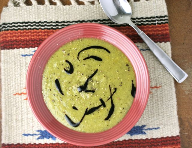 broccoli potato soup // I added ginger and it was amazing!