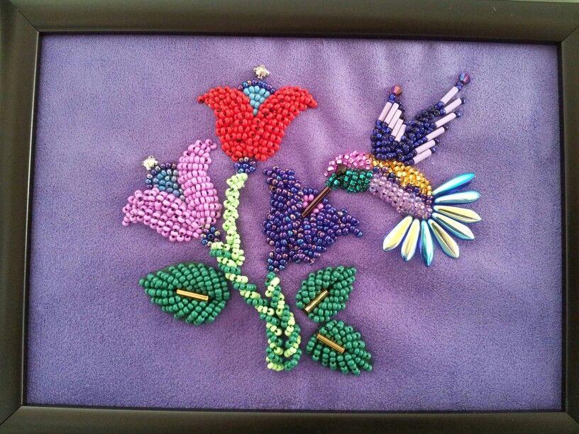 raised beadwork Iroquois/Mohawk. latest hummer Oct 2014 by Dollface
