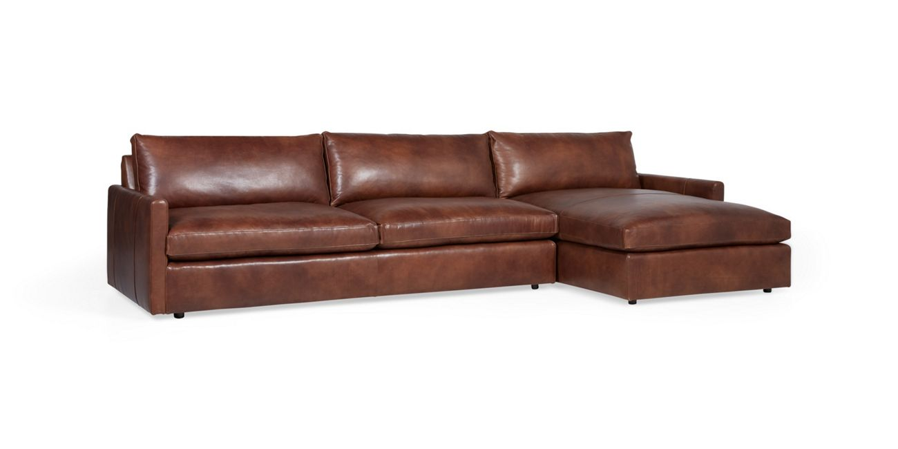 Kipton Leather Two Piece Sectional Arhaus Furniture In