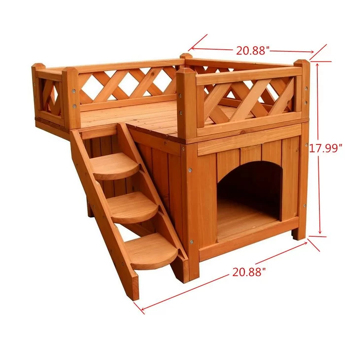 Ramsay Wood Outdoor Cat House with Portable | Wooden dog ...