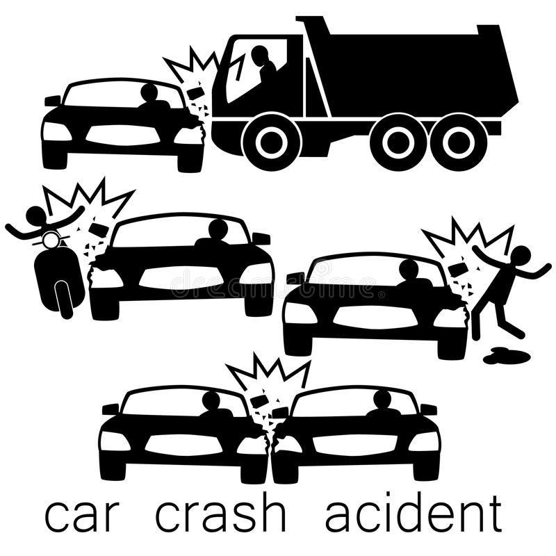 Black Car Crash Side Collision Icon For Car Crash Acident On Side Collision Affiliate Crash Side Bla Car Crash Social Media Design Graphics Black Car