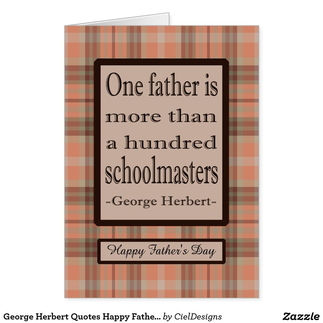George Herbert Quotes Happy Father's Day Greeting Card