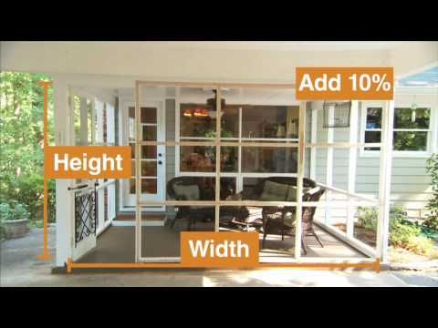 How to Install the Screen Tight Porch Screen System for ...