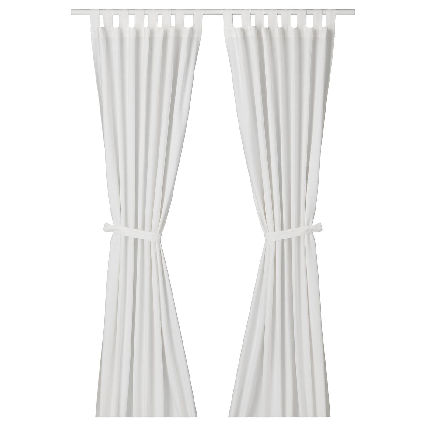 LENDA white, Curtains with tie backs, 1
