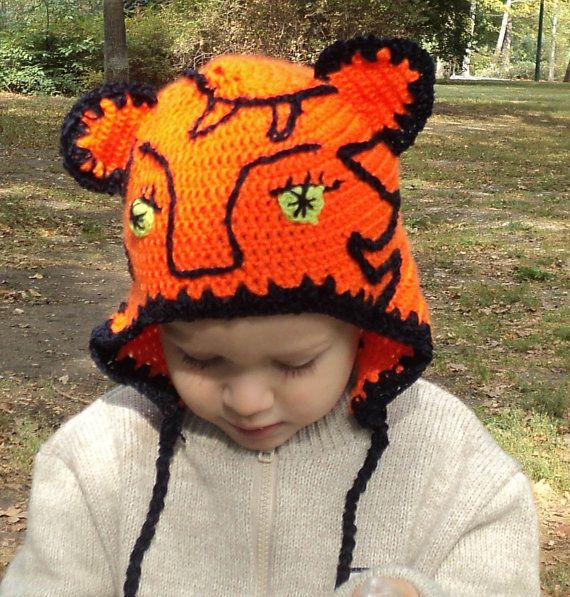 Crocheted tiger hat by paintcrochet on Etsy, $19.00