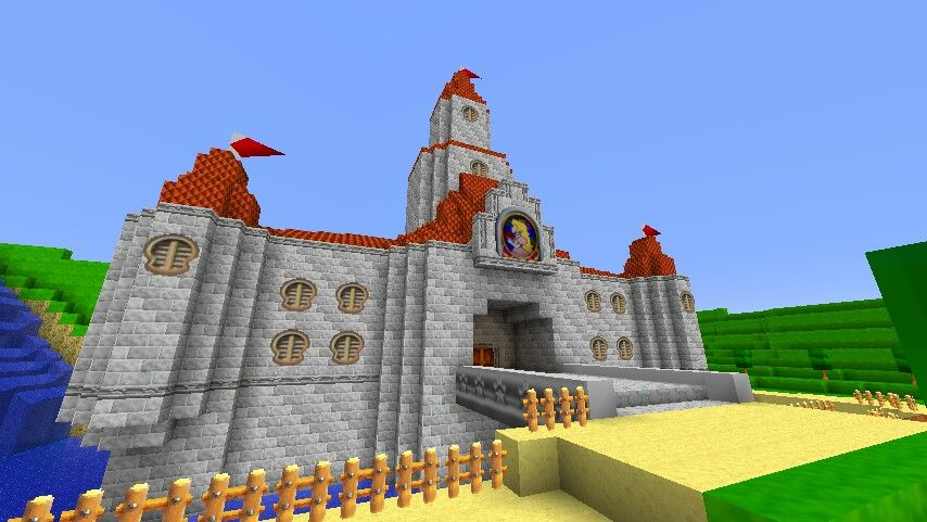 Super Mario 64 Princess Peach Castle Minecraft Mario