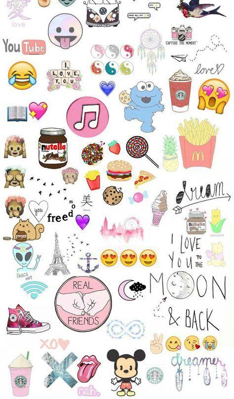 food emoji wallpaper - Google Search