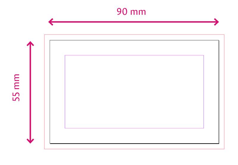 Standard Business Karten Größe Mit Beschnitt Auch Standard