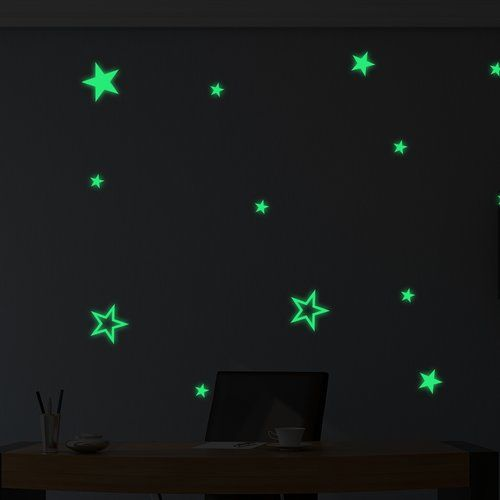 Alien Glowing Stars Wall Sticker Set 17 Stories Mirror Wall Stickers Tree Wall Stickers Butterfly Wall Stickers