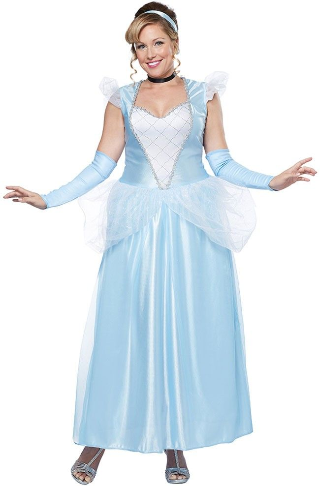 Classic Cinderella Plus Size Womens Costume Halloween Birthday