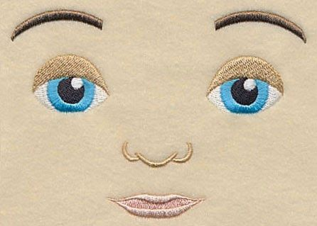 Moonwishes Crafts: Doll Faces  machine Embroidery Design and Rag Doll... #dollfacepainting