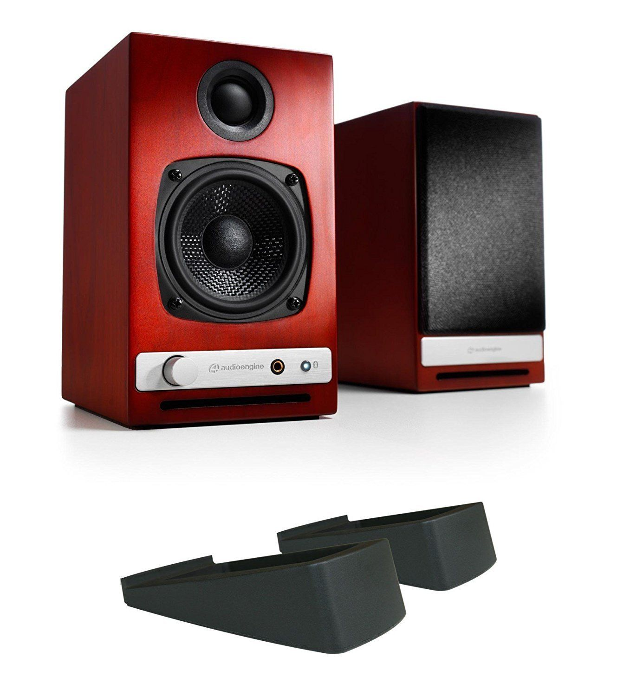 Audioengine HD3 Powered Bookshelf Speakers (Cherry) w/ DS1