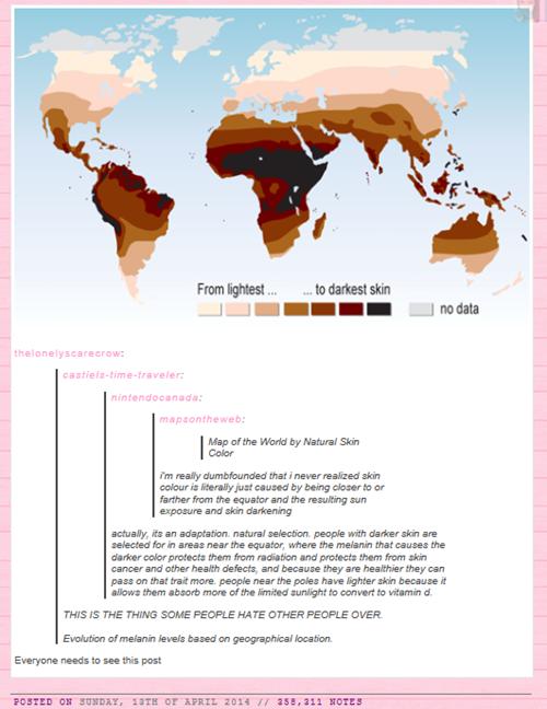 All This Over Some Melanin Color World Map Melanin World