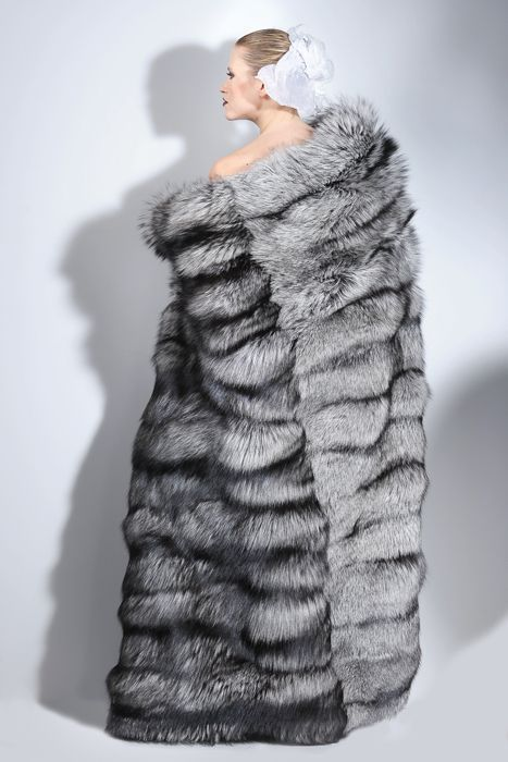 Wrap up in this Silver Fox Fur Blanket Throw