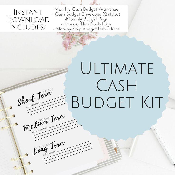 PRINTABLE Cash Envelope Budget Planner, Cash Envelope System, Dave - dave ramsey budget spreadsheet