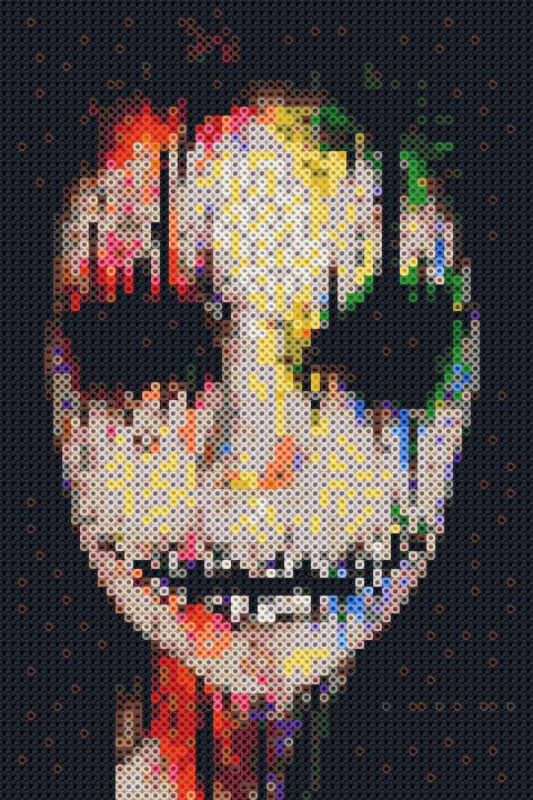Perler Beads Joker Mosaic Perler Bead Designs Bugelperlen Hama