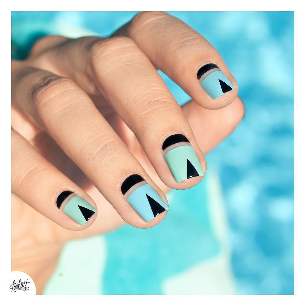 10 Of The Best Nail Art Instagrammers | Triangle nail art, Negative ...