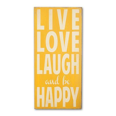 BarnOwlPrimitives Live Love Laugh and Be Happy Textual Art Plaque