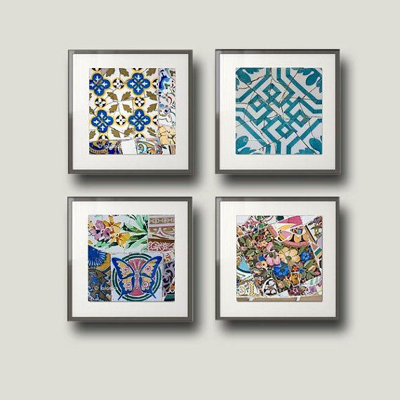 Gaudi Barcelona European Photography Mosaic Tile Geometric