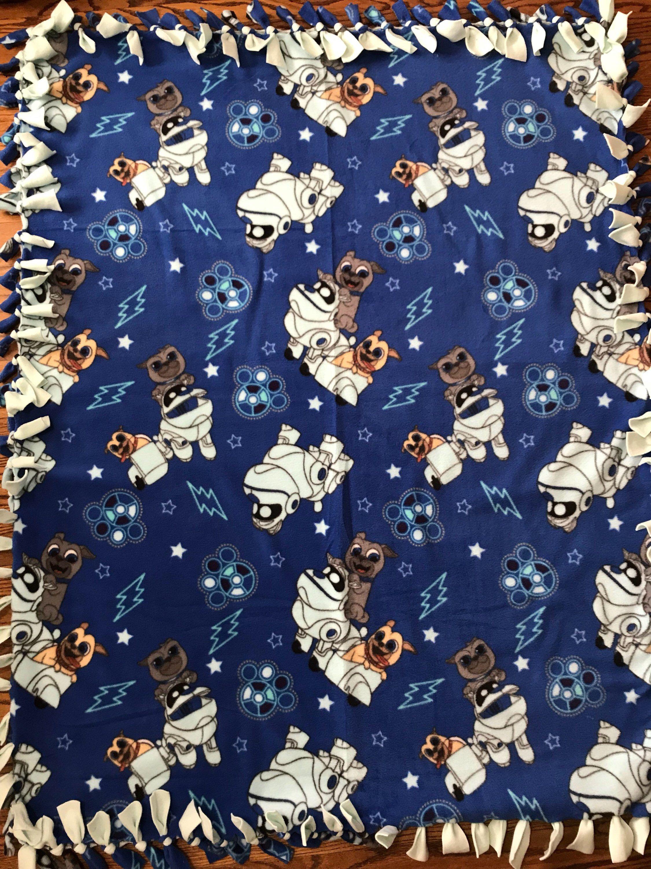 Puppy Dog Pals Fleece Tie Blanket Tie Blankets Fleece Tie Blankets Dogs And Puppies