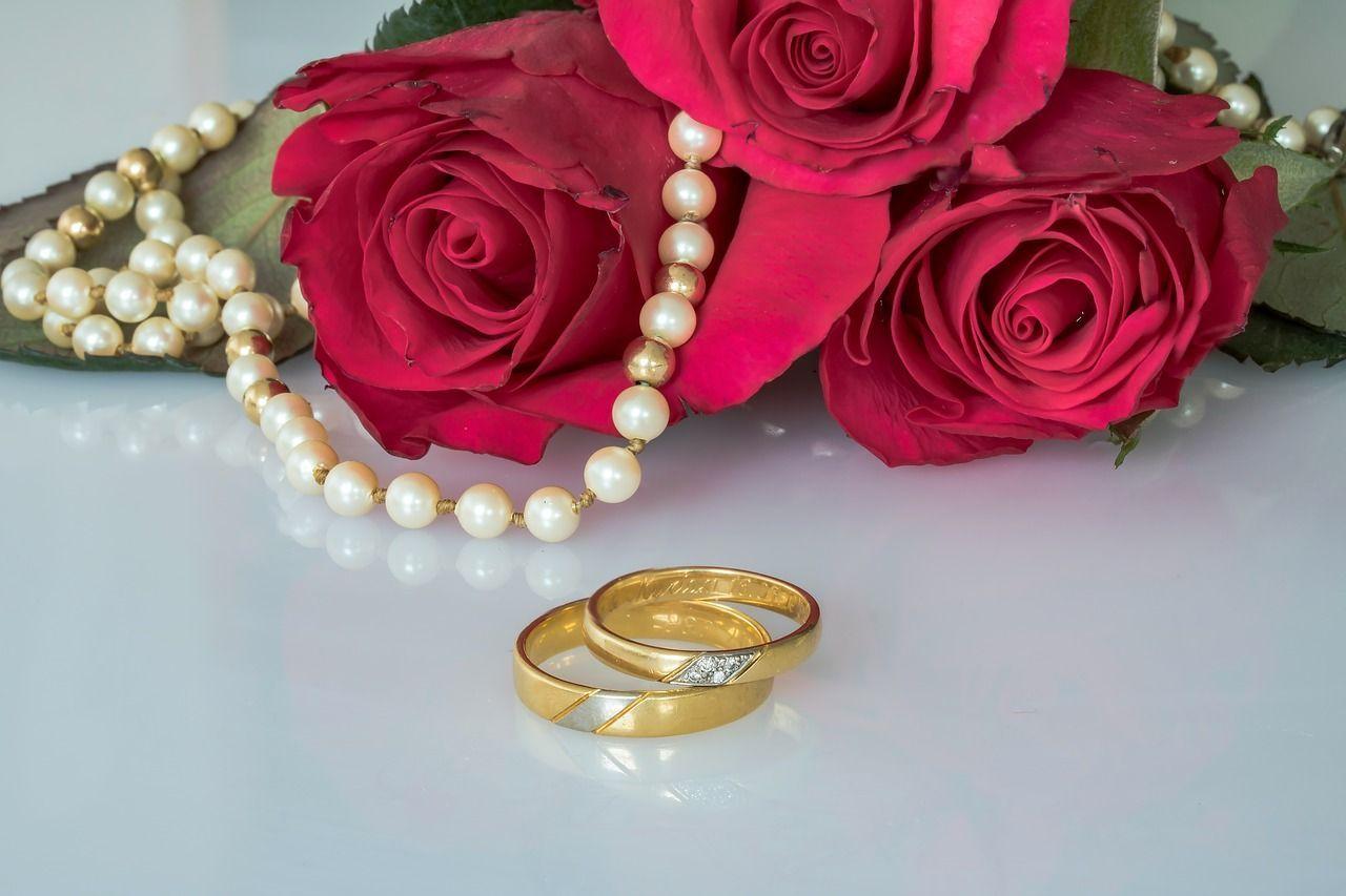 Wedding Wedding Rings Rings Gold Rings Roses Pearl wedding