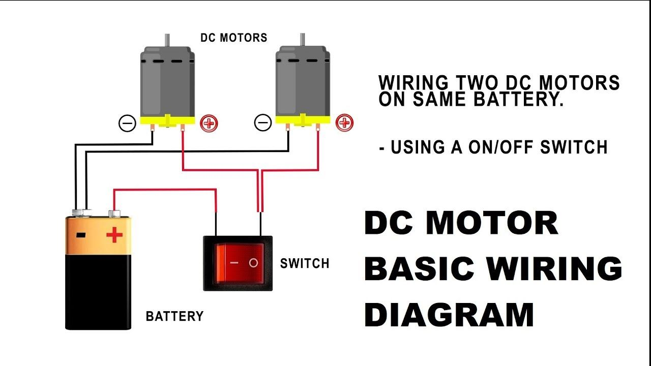 How To Wire A Dc Motor On Battery With Switch And Relay Diy Alarm Wiring Diagram Symbol Electrical Symbols Electric