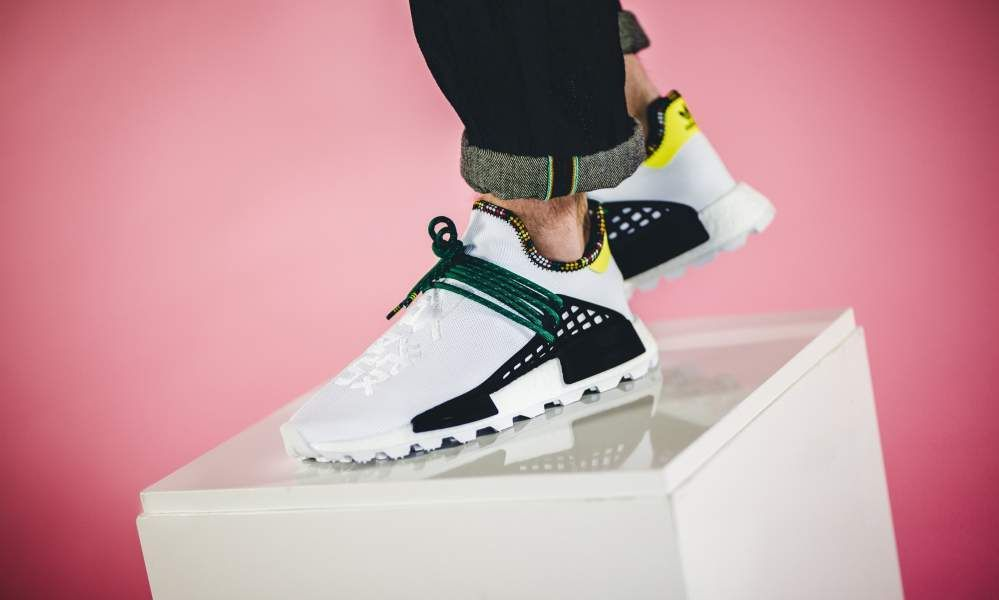 adidas x Pharrell Williams Solar Hu NMD (white black