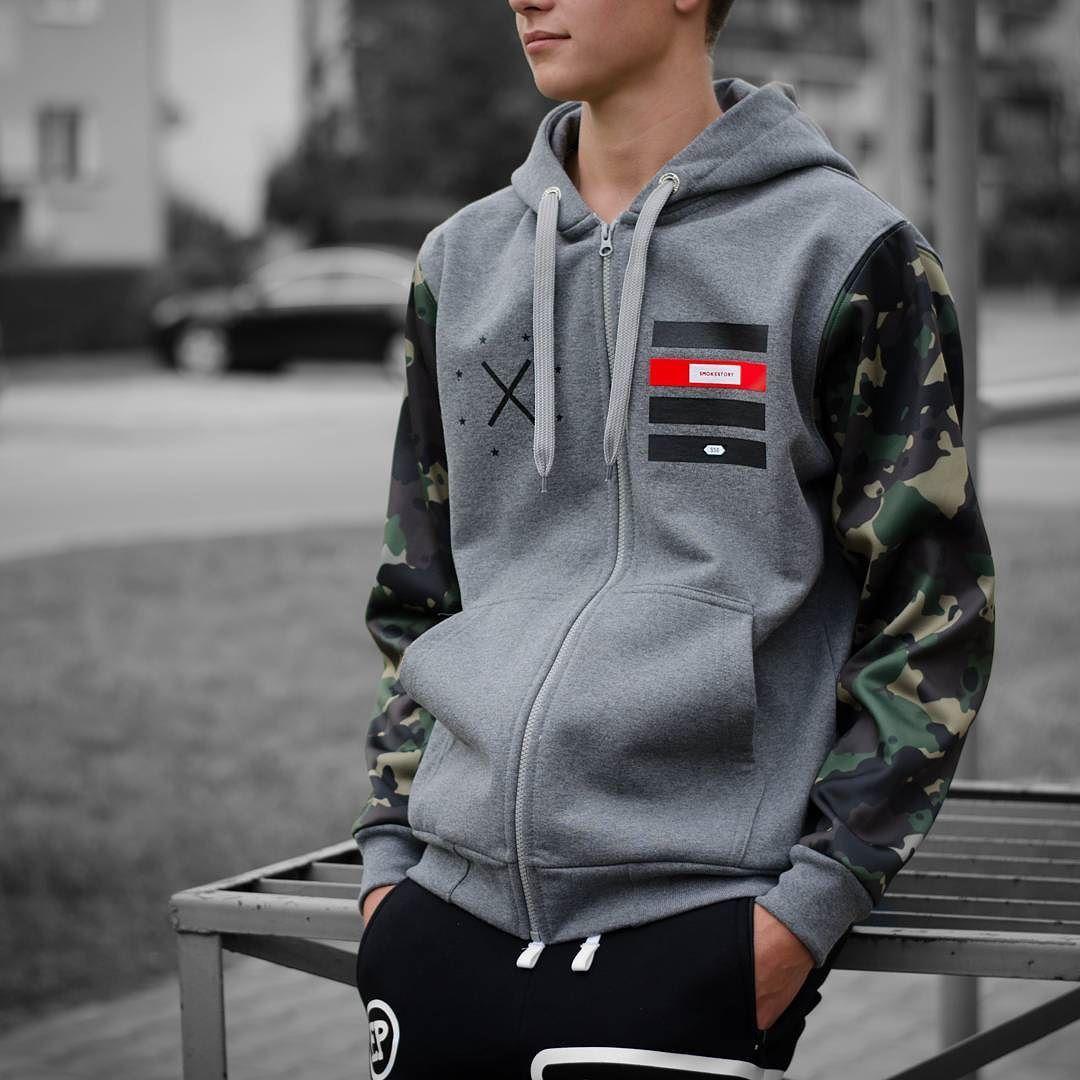 761f226b57b99 #bluza #ssg #smokestory #smokestorygroup #zip #moro #sleeves #grey #hiphop  #lifestyle #polskafirma #polishcompany #hoodie #style #fashion #cliffsport  ...