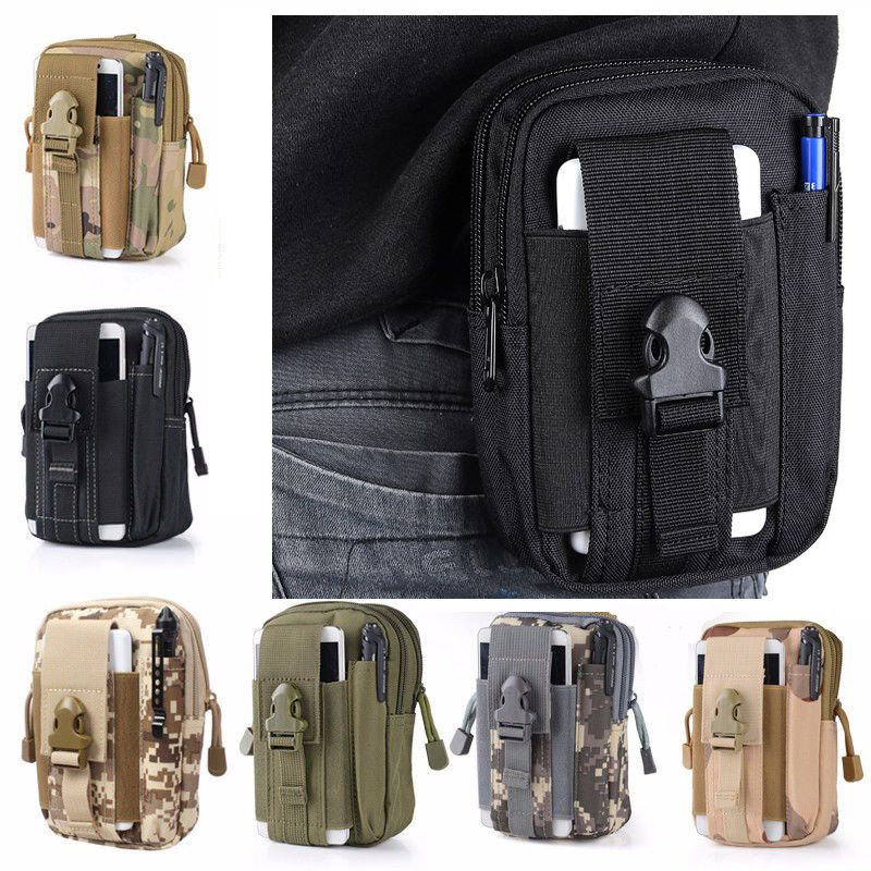 3b86d5b7a9 Campeggio ed escursionismo Xmund XD-DY4 5.5 Inch Outdoor EDC Tactical Molle  Waist Bag Pack Men ...