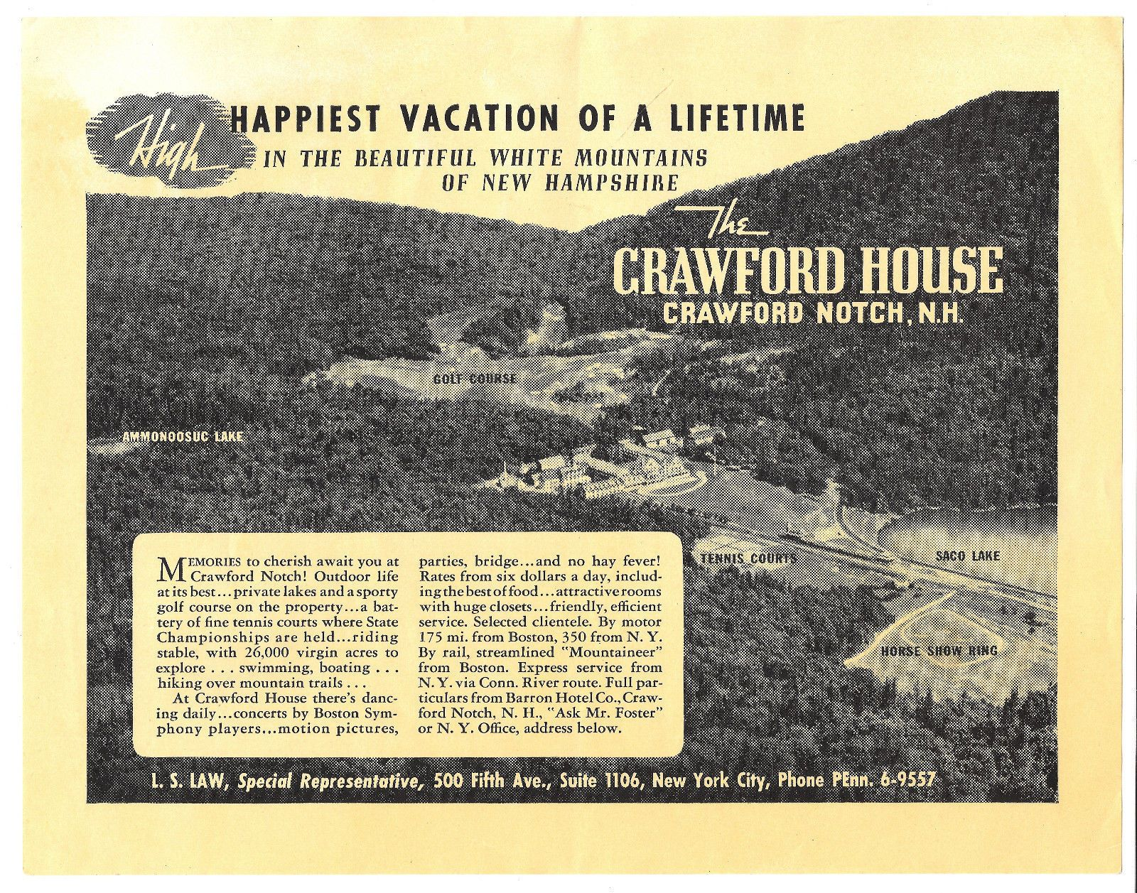 Vintage WHITE MOUNTAINS NH Tourism Flyer  CRAWFORD HOUSE Golf Course Horse Ring https://t.co/YbNjjNGnxZ https://t.co/pErJ4wuSsg