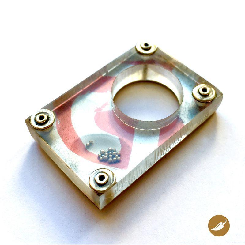 ANILLO PLANO ALUMINIO ACRILICO | Aluminio anodizado, Aluminio y Anillos