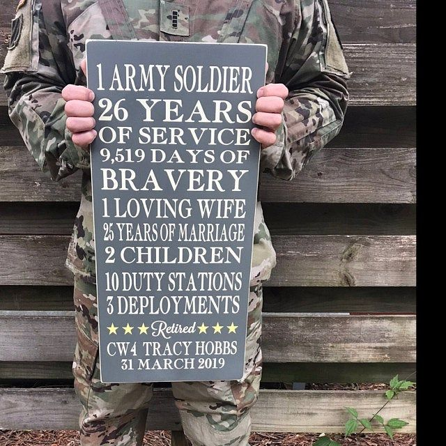 """Military Retirement Sign 12x24"""" (gift, army, air force"""