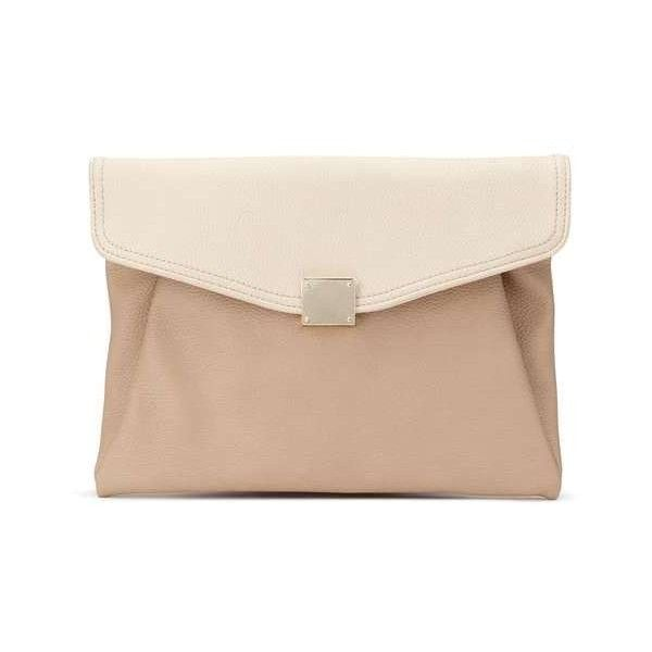 Soft Foldover Clutch ($35) via Polyvore featuring bags, handbags, clutches, foldover handbags, fold over handbag, pink handbags, foldover purse and fold-over clutches
