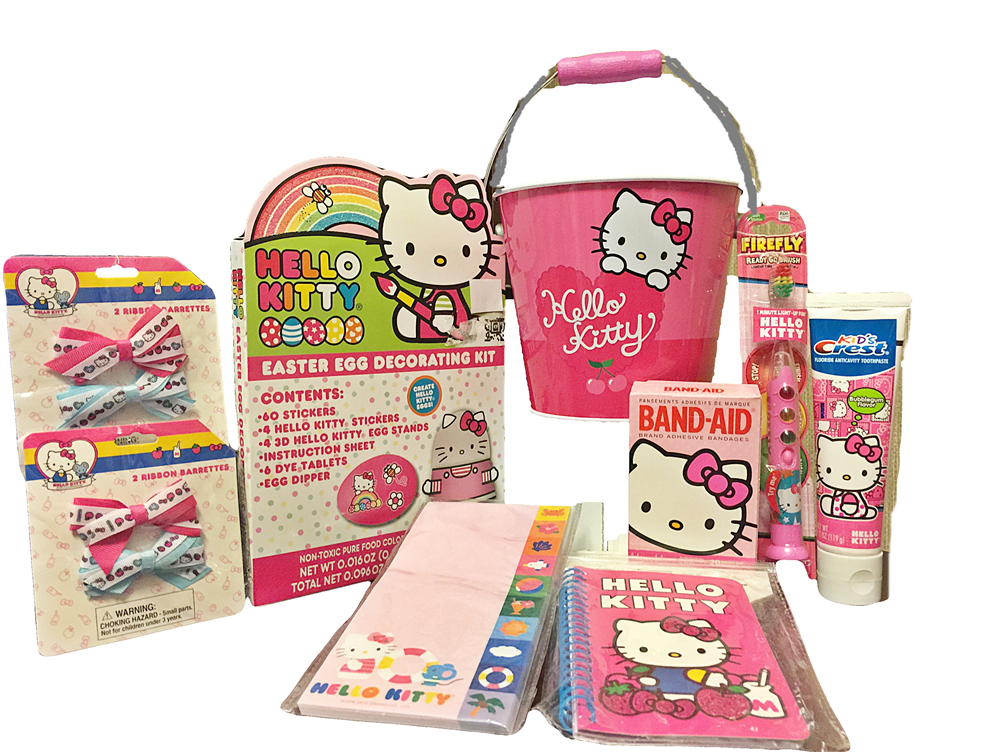 Your Little Girl Will LOVE This Hello Kitty Easter Egg Decorating 9 Piece Gift Set Includes
