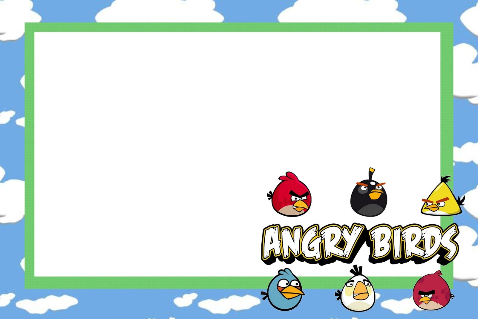 Angry Birds Free Printable Party Invitations – Angry Birds Party Invitations