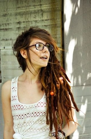 glasses girl hippie hairstyles