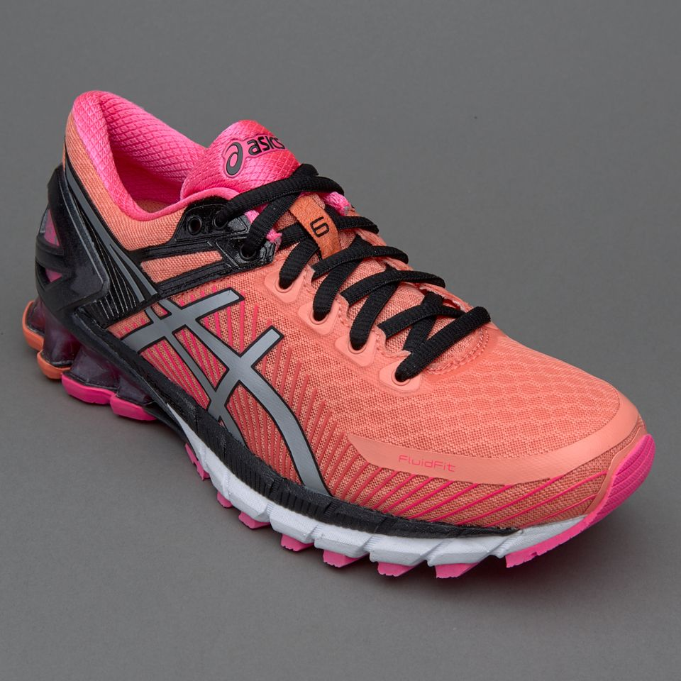 ASICS Women's Gel-Kinsei 6 Running Shoes Peach Melba/Silver/Pink Glow