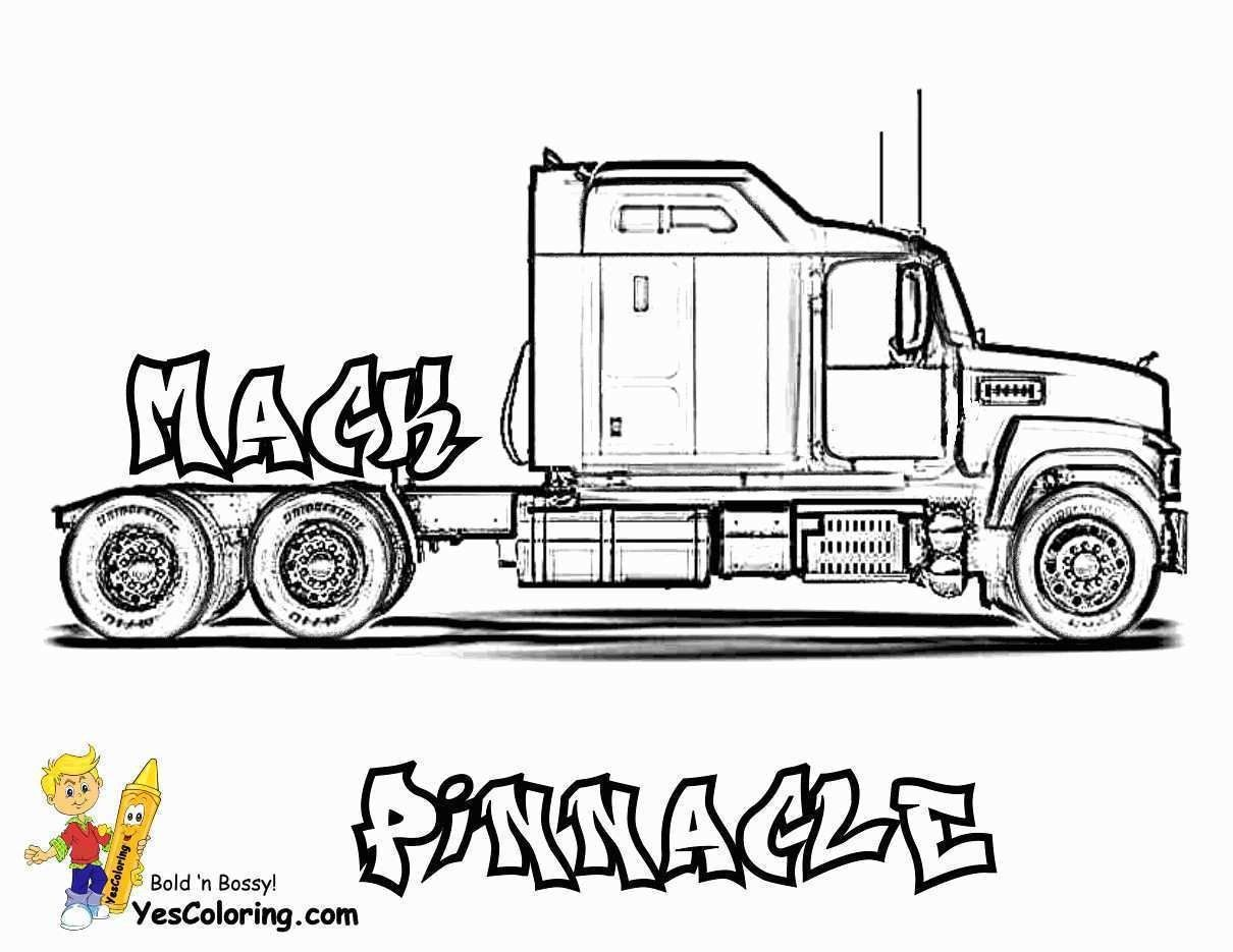 25 Pretty Photo Of Semi Truck Coloring Pages Davemelillo Com Truck Coloring Pages Big Rig Trucks Big Trucks